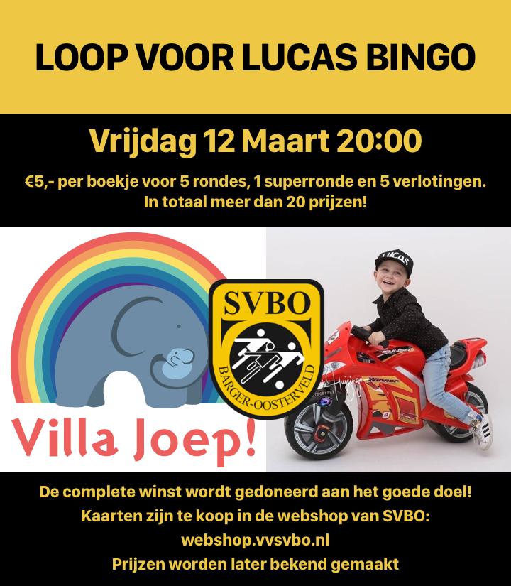 Loop voor Lucas Bingo